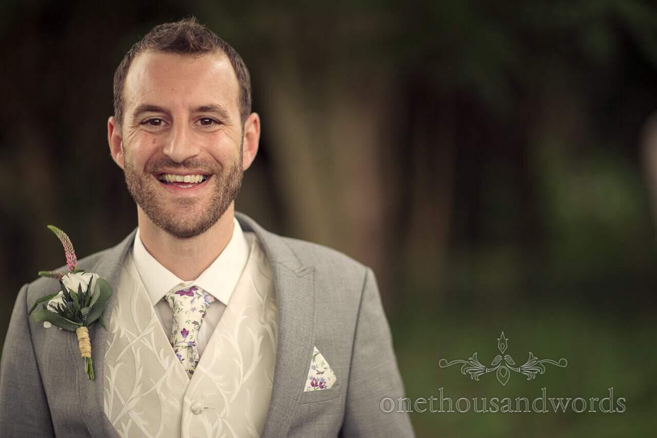 Best man portrait at Plush Manor Wedding