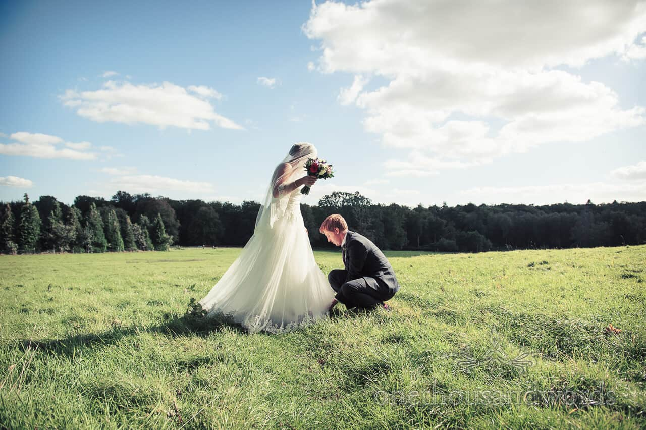 weddings in the wood photographs - Bride and groom in New Forest