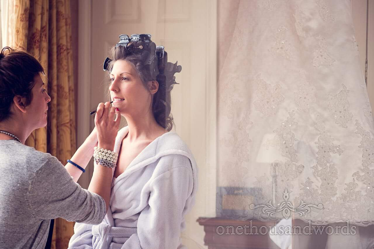 one of our best wedding photographs of wedding makeup with dress