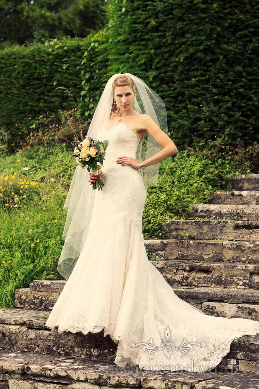 Bride strikes a pose at Plush Manor Wedding reception