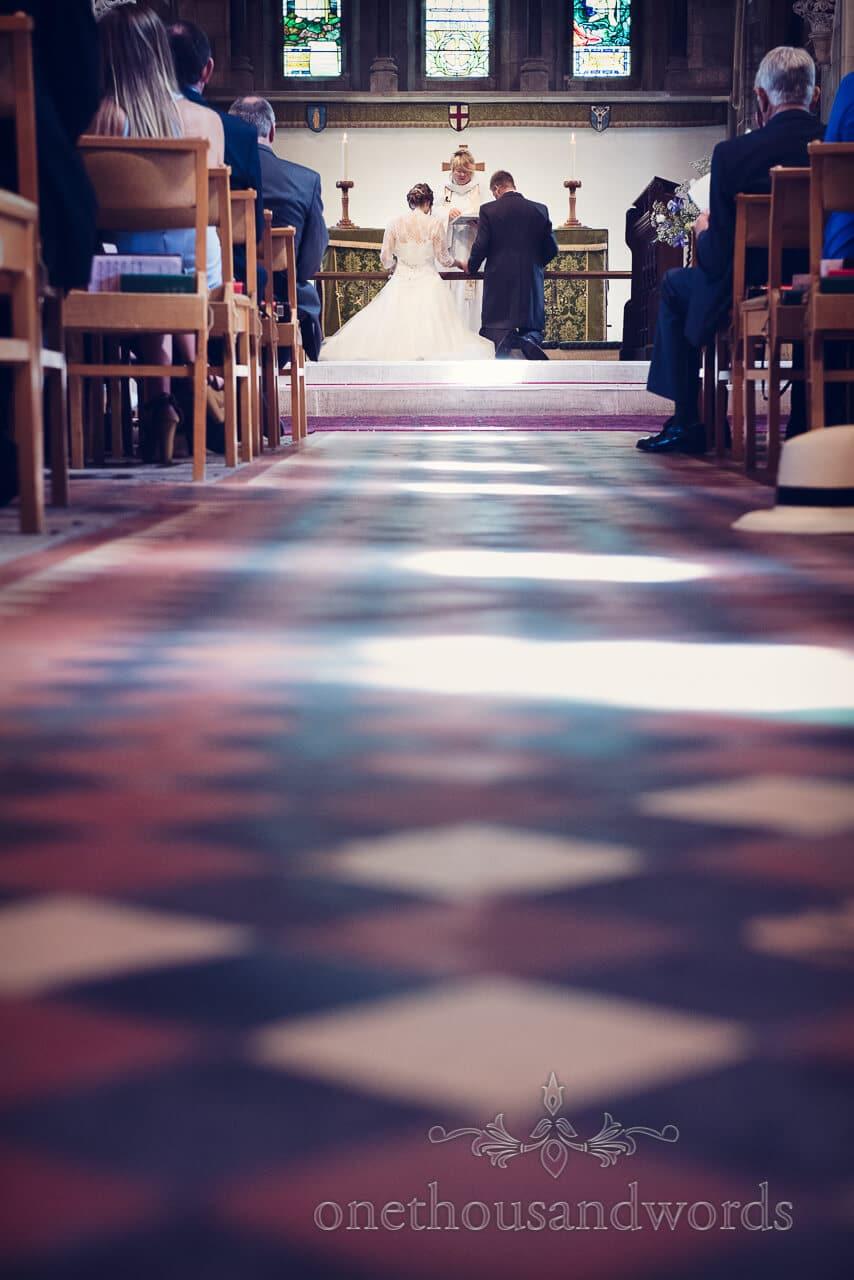 Church wedding service photograph
