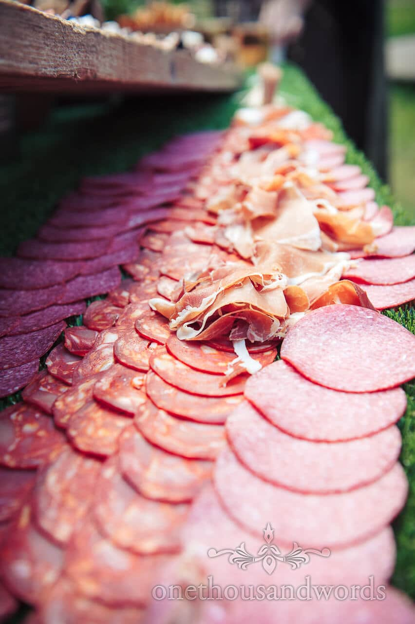 Cold meat wedding catering food photograph