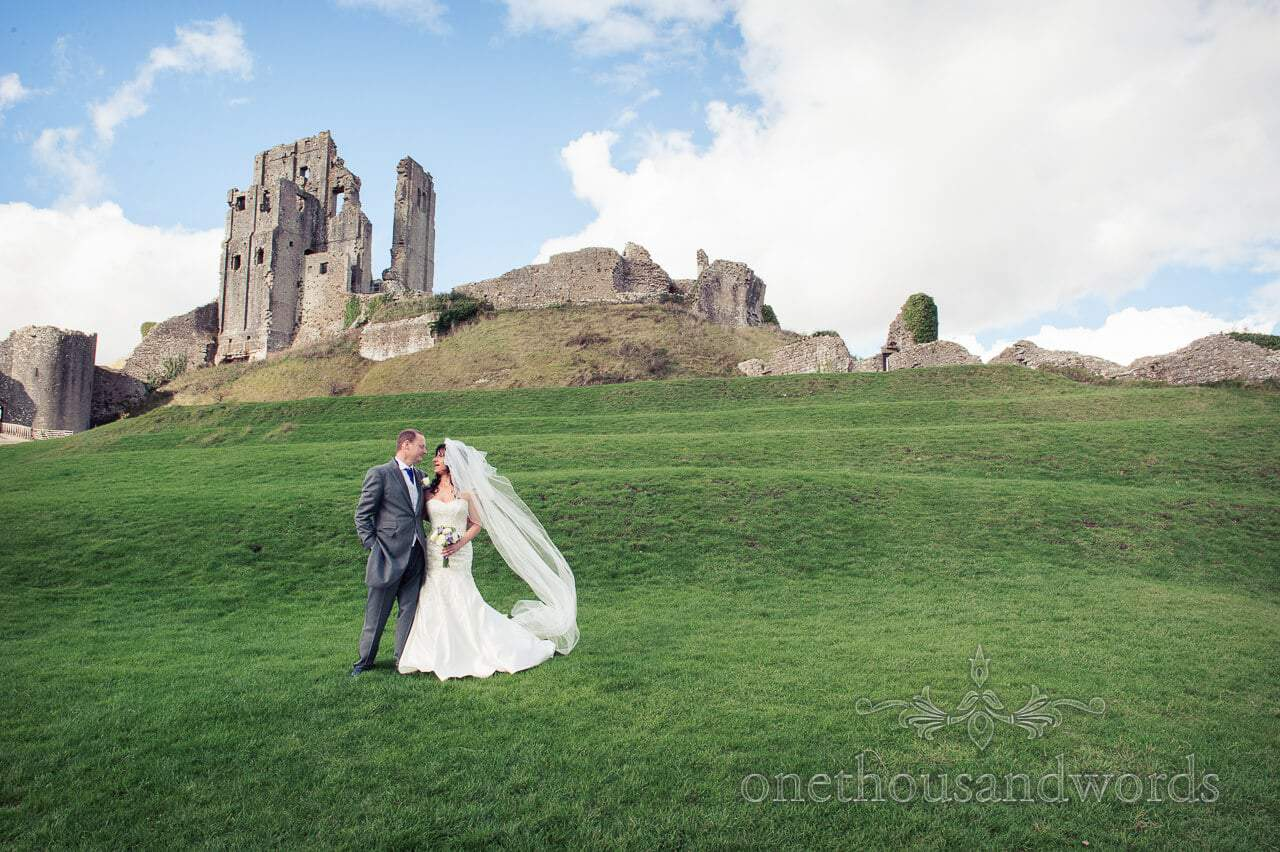 Corfe Castle Wedding Photographs with Gale and Chris