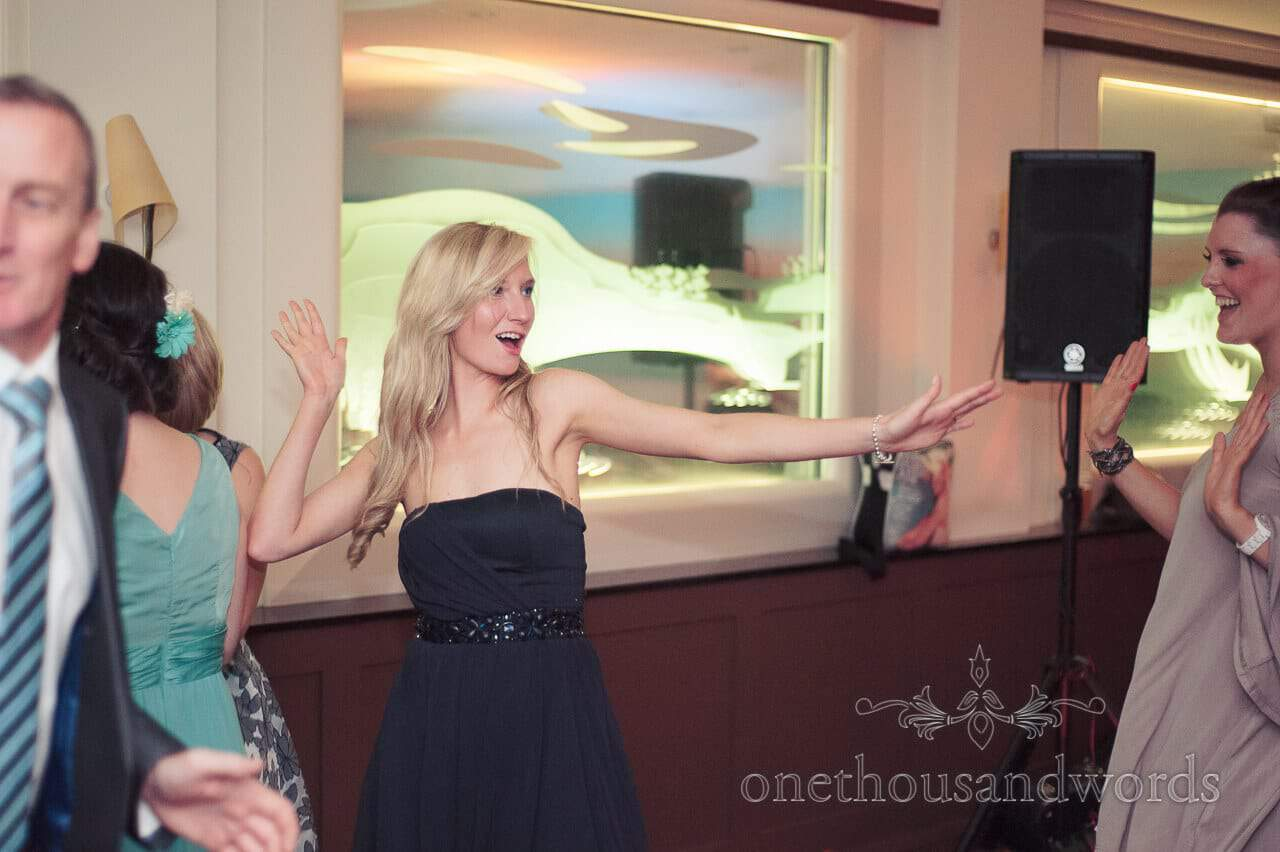 Dancing at Harbour Heights Hotel wedding