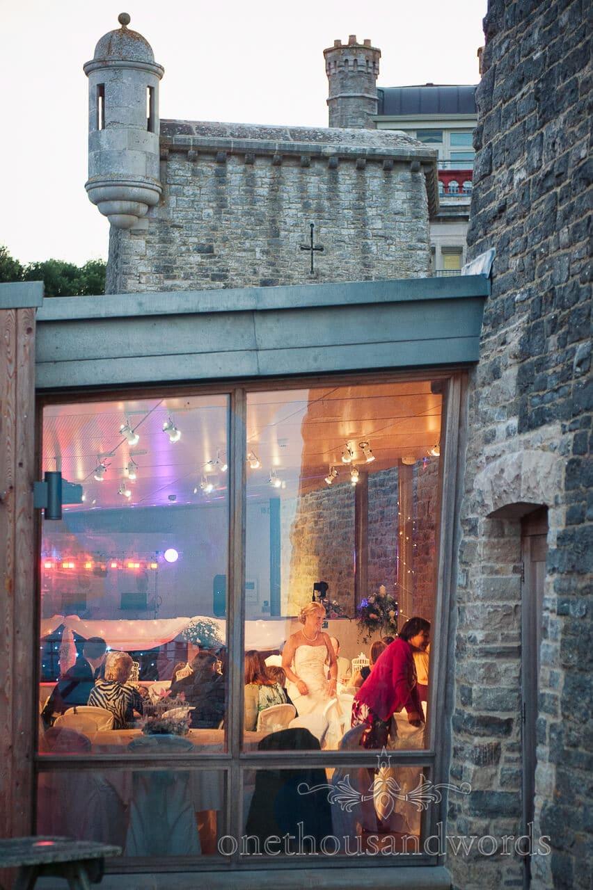 Durslton Castle wedding photograph inside and out