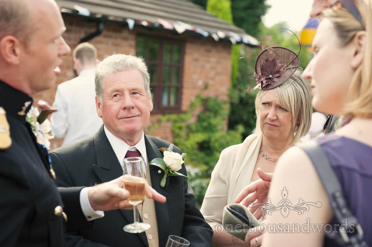 Father of the bride from military wedding photographs