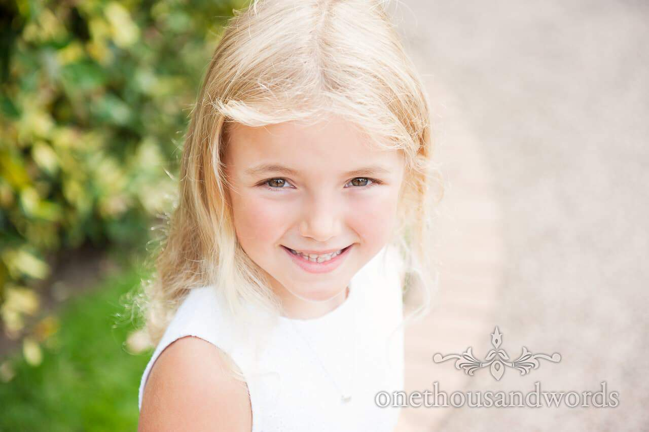 Flowergirl portrait from wedding photographs