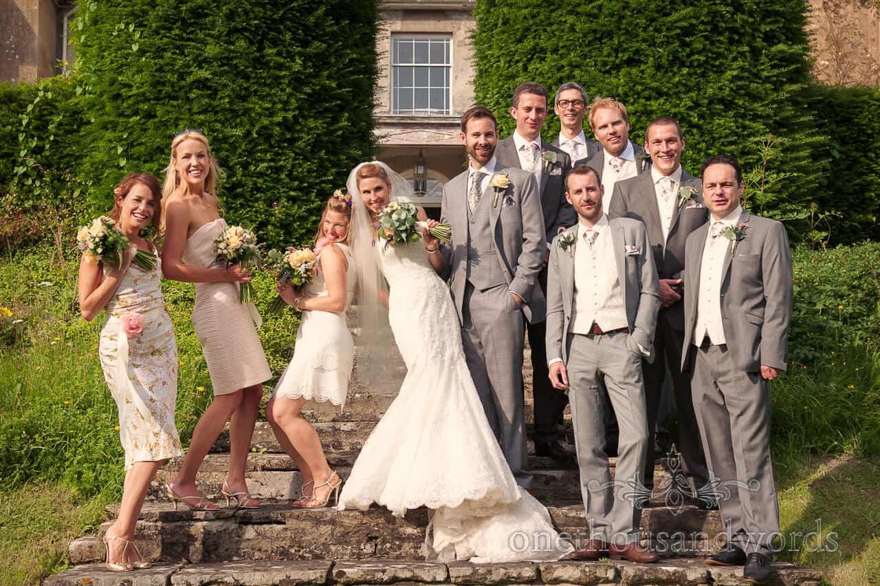 Funny Group Wedding Photograph at Plus Manor Wedding