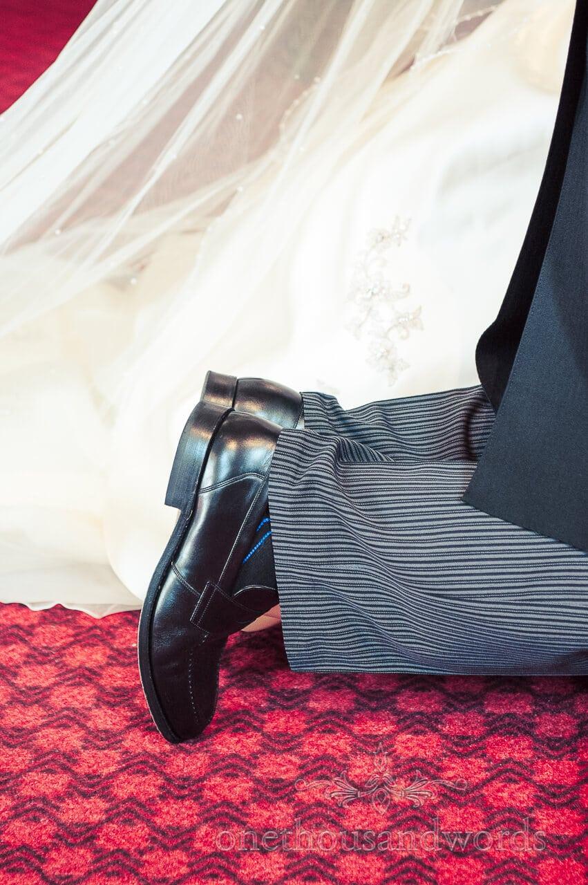 Grooms sock detail photograph