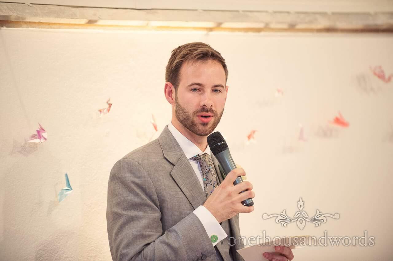 Grooms speech at Plush Manor Wedding Venue