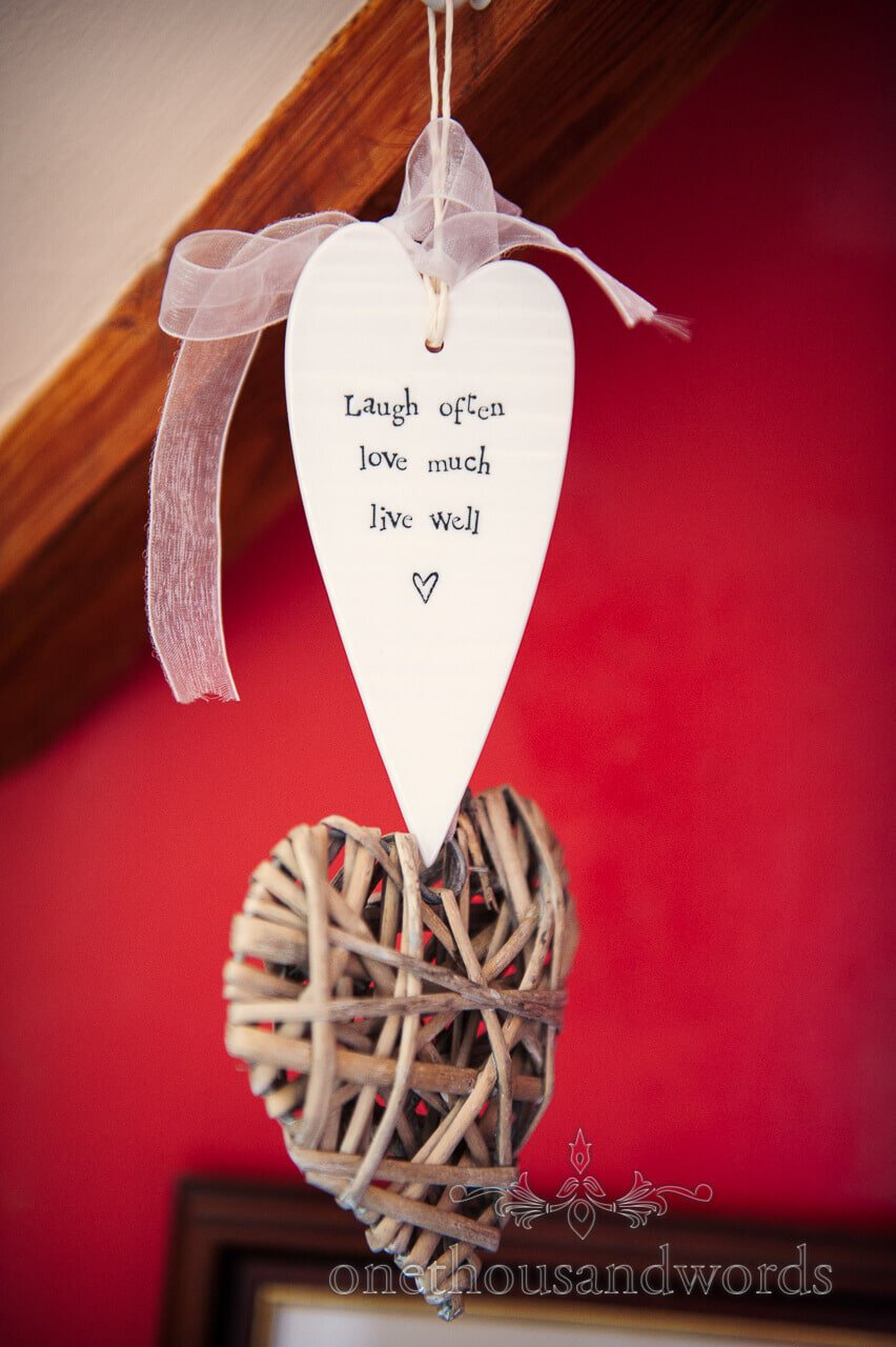 love heart wedding sign