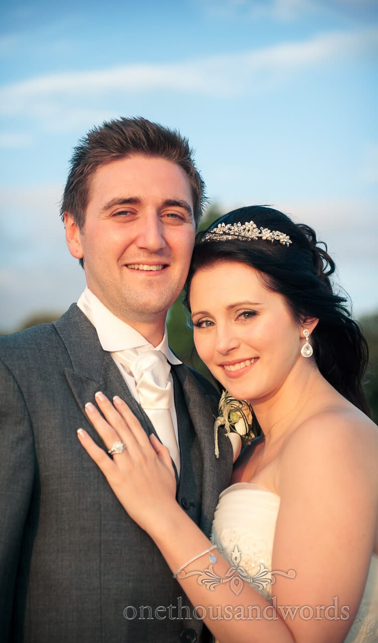 Newlyweds by at Harbour Heights Hotel wedding