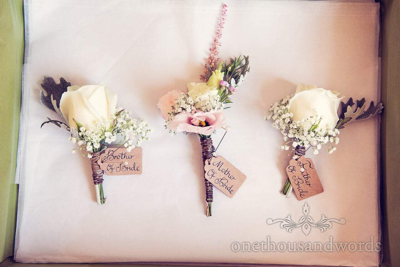 rustic countryside wedding button holes