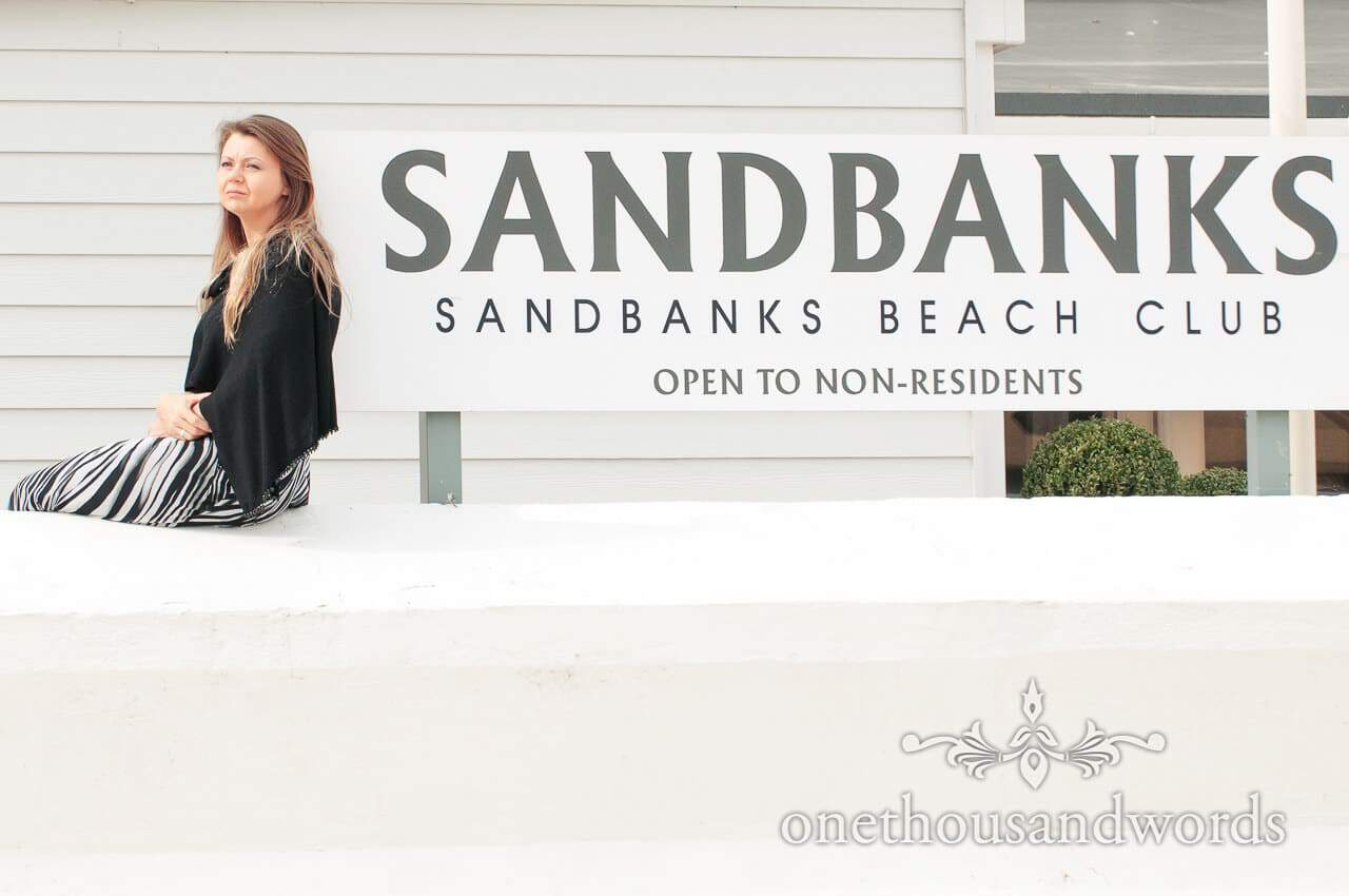 Sanbanks Beach wedding guest