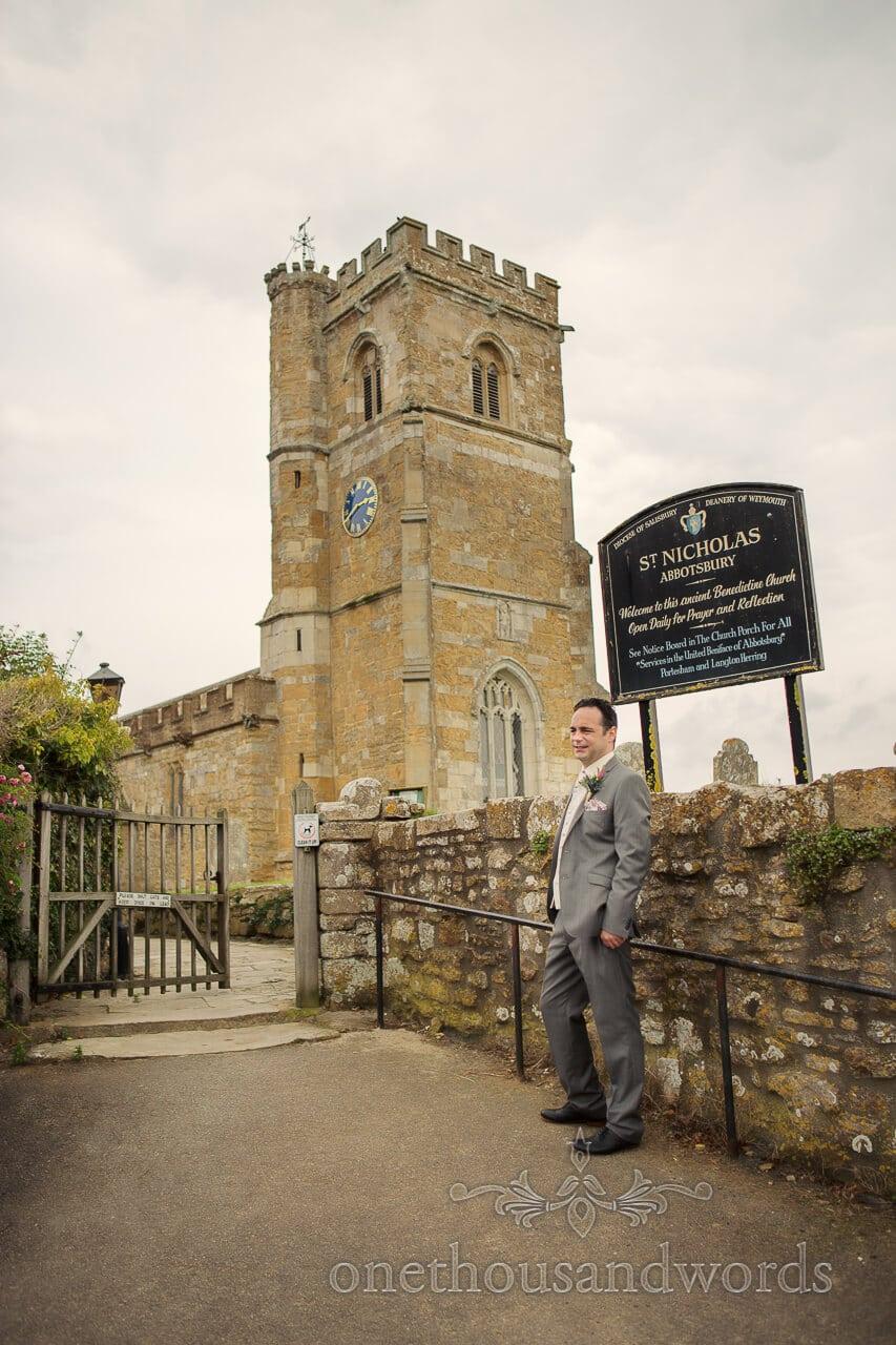 St Nicolas Church Abbotsbury wedding photograph