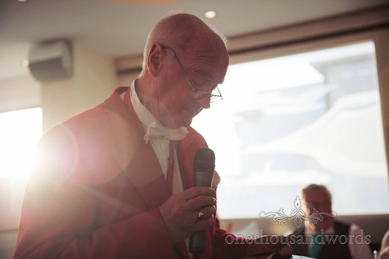 Toastmaster at Poole Hotel wedding