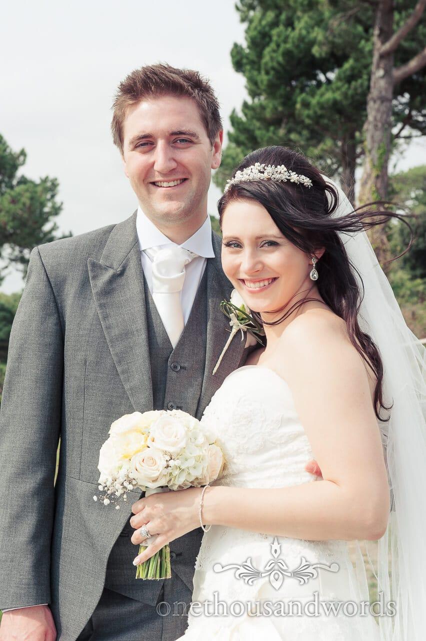 Happy bride and groom portrait photograph