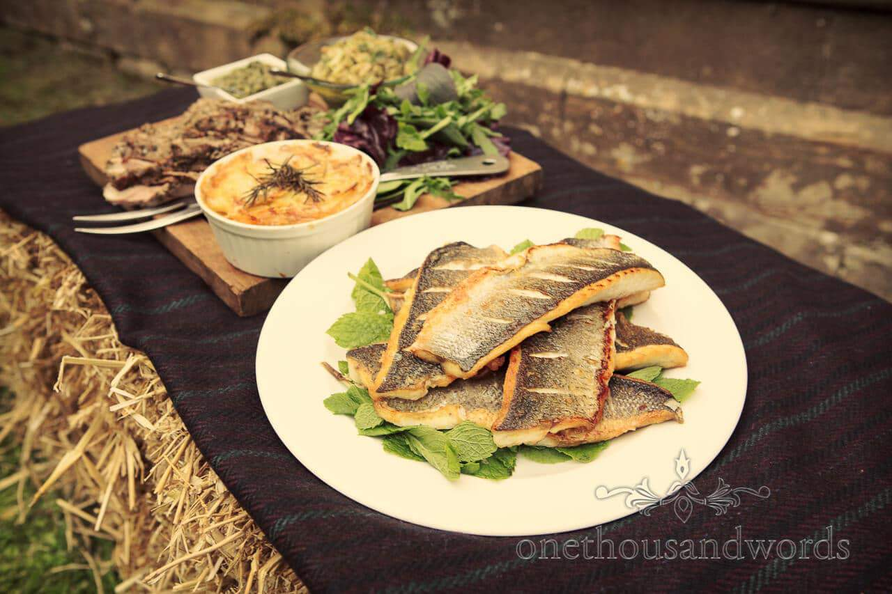 Wedding Food by Nomad Wedding Catering at Plush Manor in Dorset
