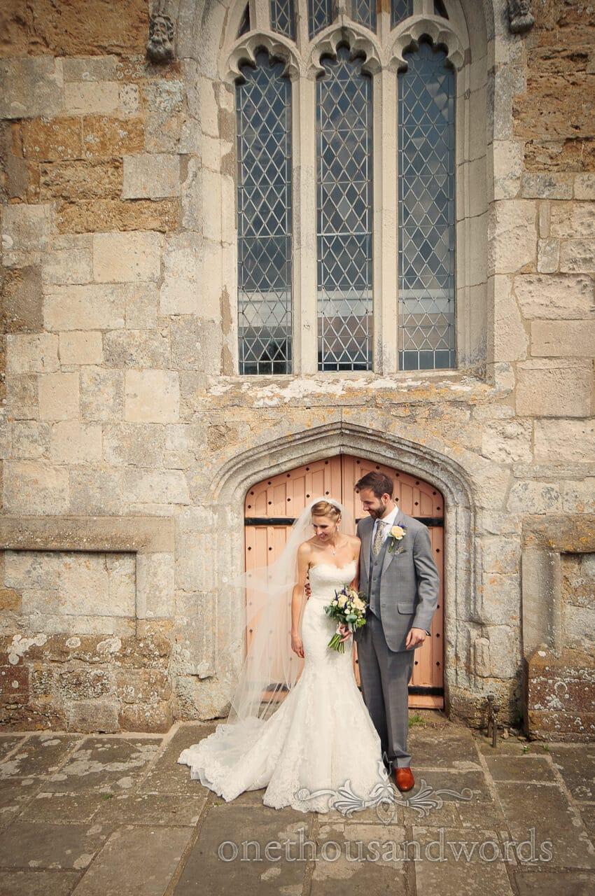Wedding photograph at Abbotsbury Church in Dorset
