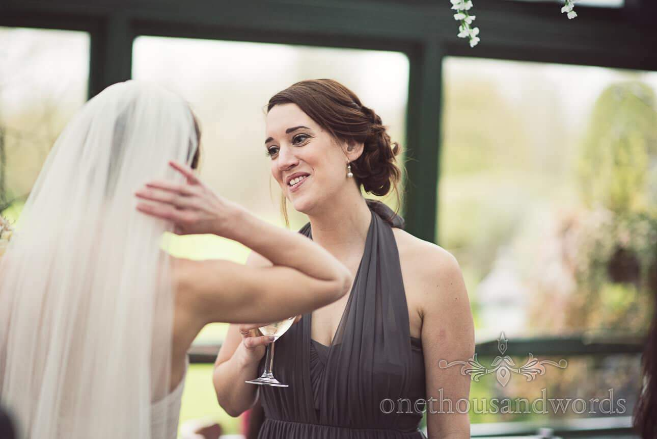 Bridesmaid at Old Mill wedding venue in Berkshire