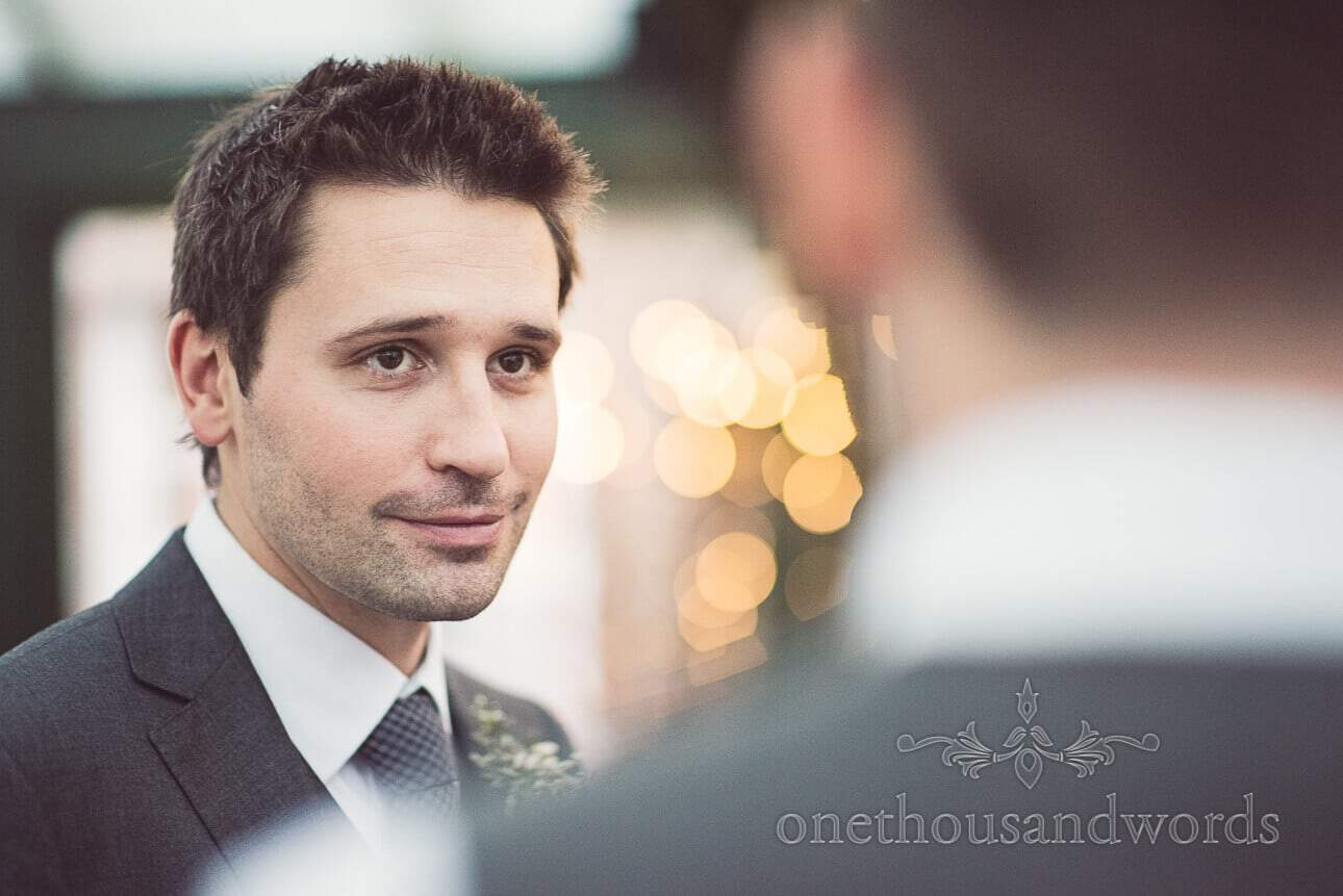 Groom portrait from Berkshire wedding photographs