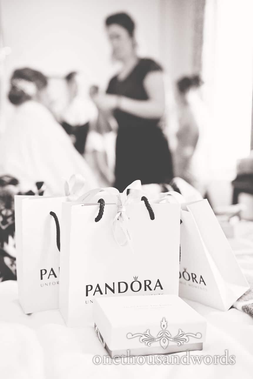 Pandora wedding morning gifts from bride to bridesmaids
