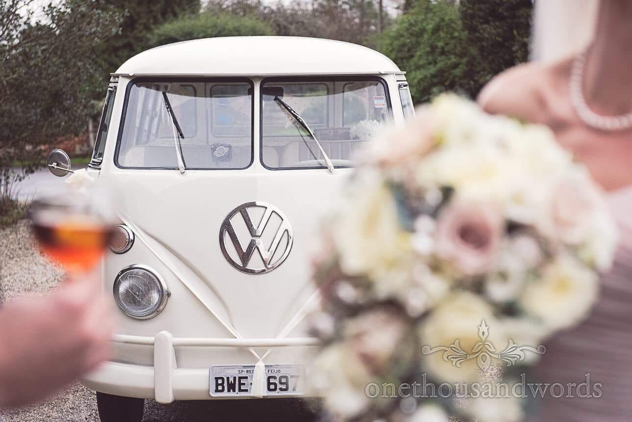 VW wedding campervan splitscreen