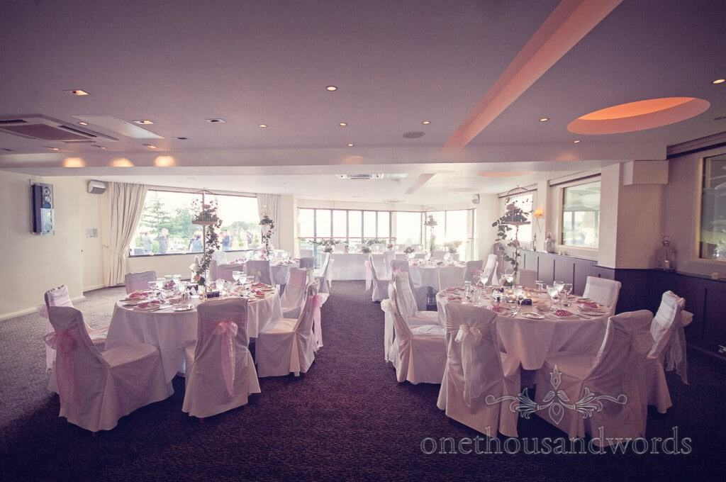 Harbour Heights Wedding Suite decorated for wedding breakfast