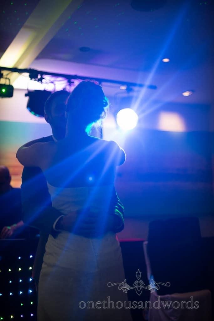 First Dance under weddign disco lights