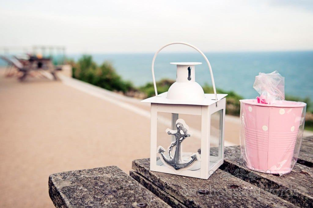 Seaside Wedding Photographs nautical themed candle lantern