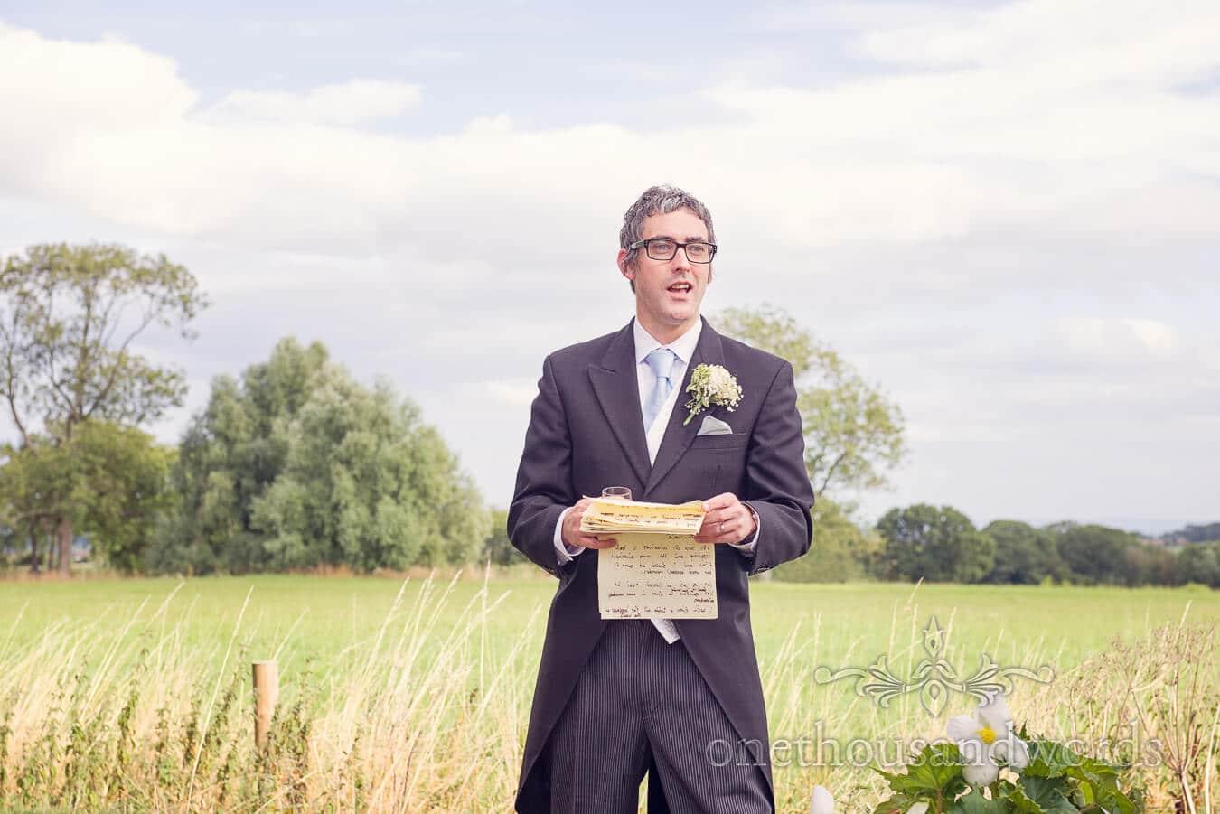 Best Mans speech at Countryside Wedding Photograph