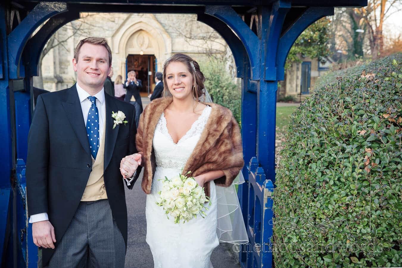 Bride and Groom Leave Richmond Church Wedding Ceremony
