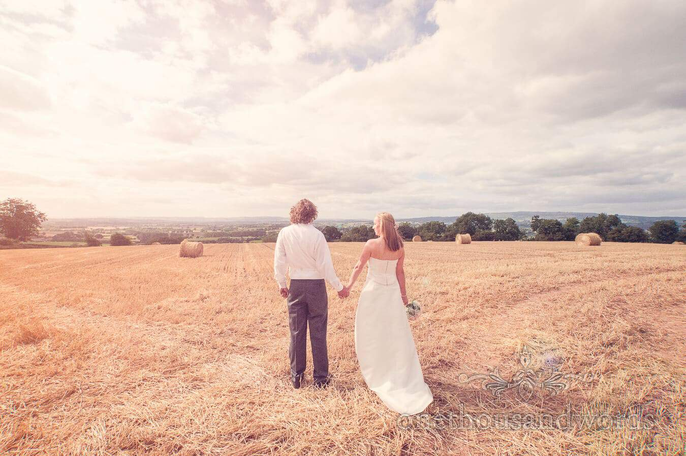 Bride and groom's Countryside Wedding Photographs