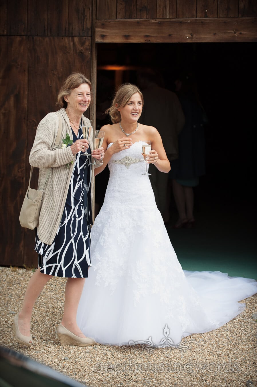 Bride and mother of the bride at Country Theme Wedding