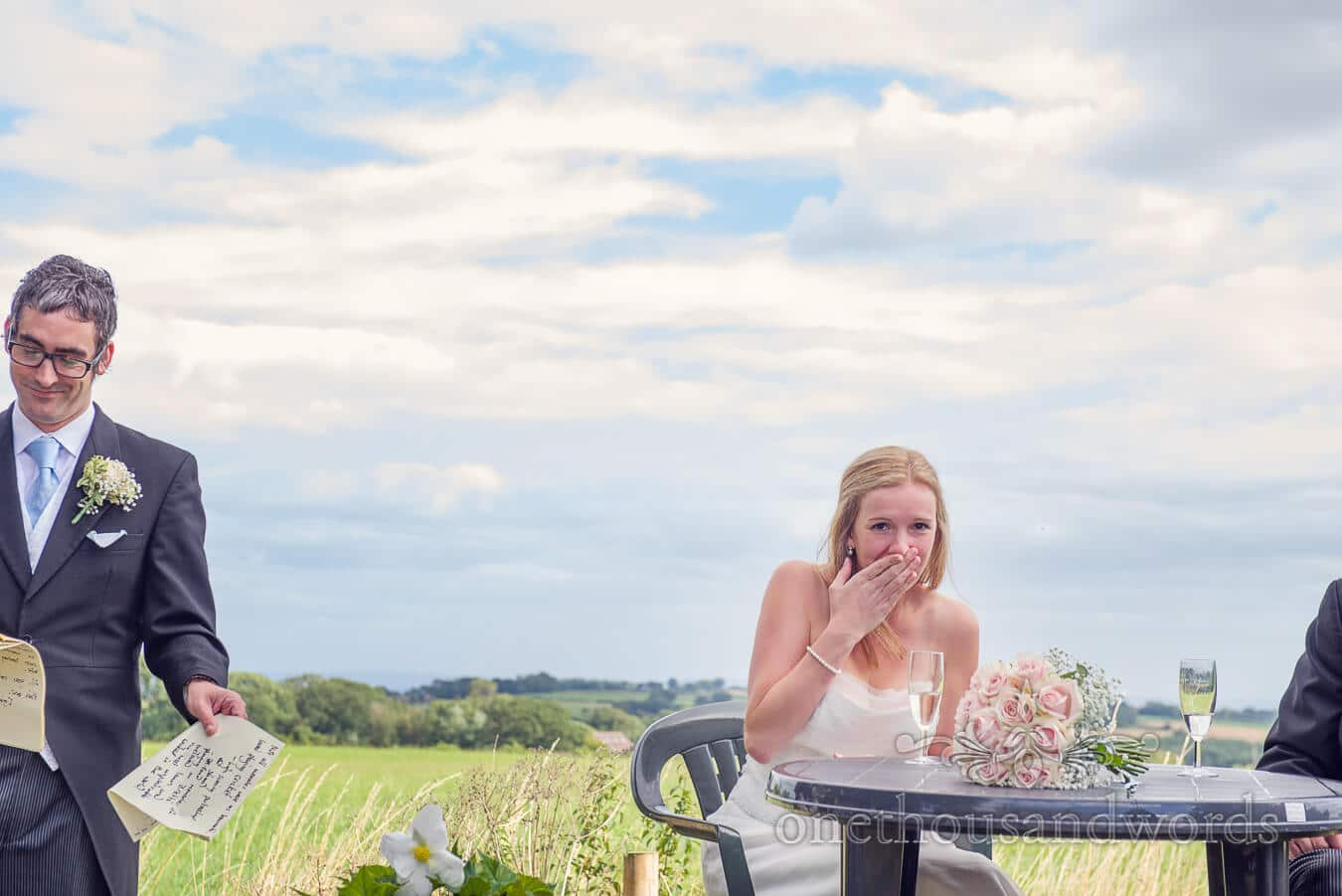 Bride is shocked by Best man's speech at Countryside Wedding speeches