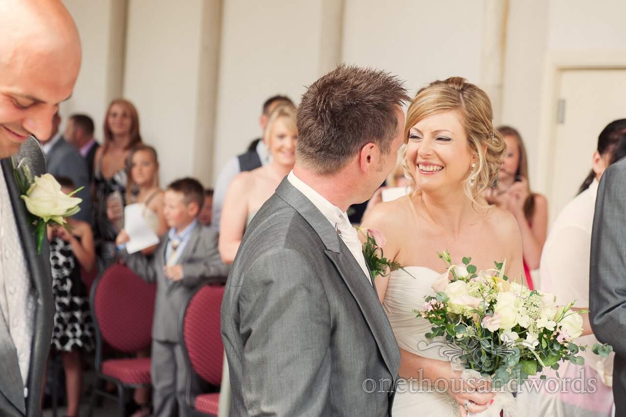 Bride portrait at Highcliffe Castle Wedding Ceremony