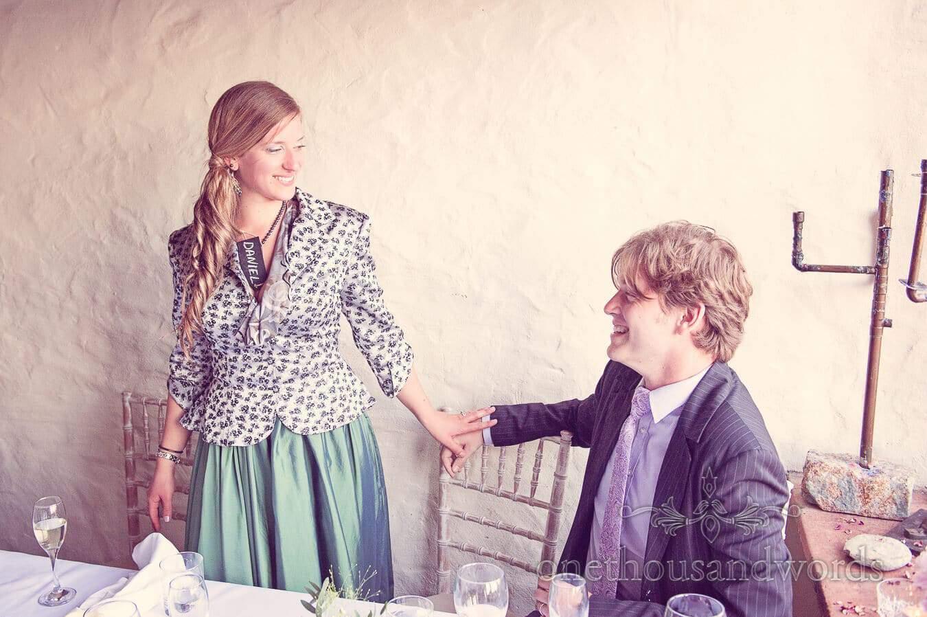 Bridesmaid at Prussia Cove Wedding Breakfast