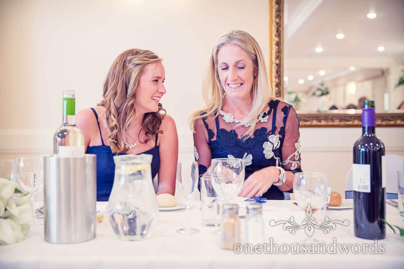 Bridesmaid at Salterns Hotel Wedding breakfast