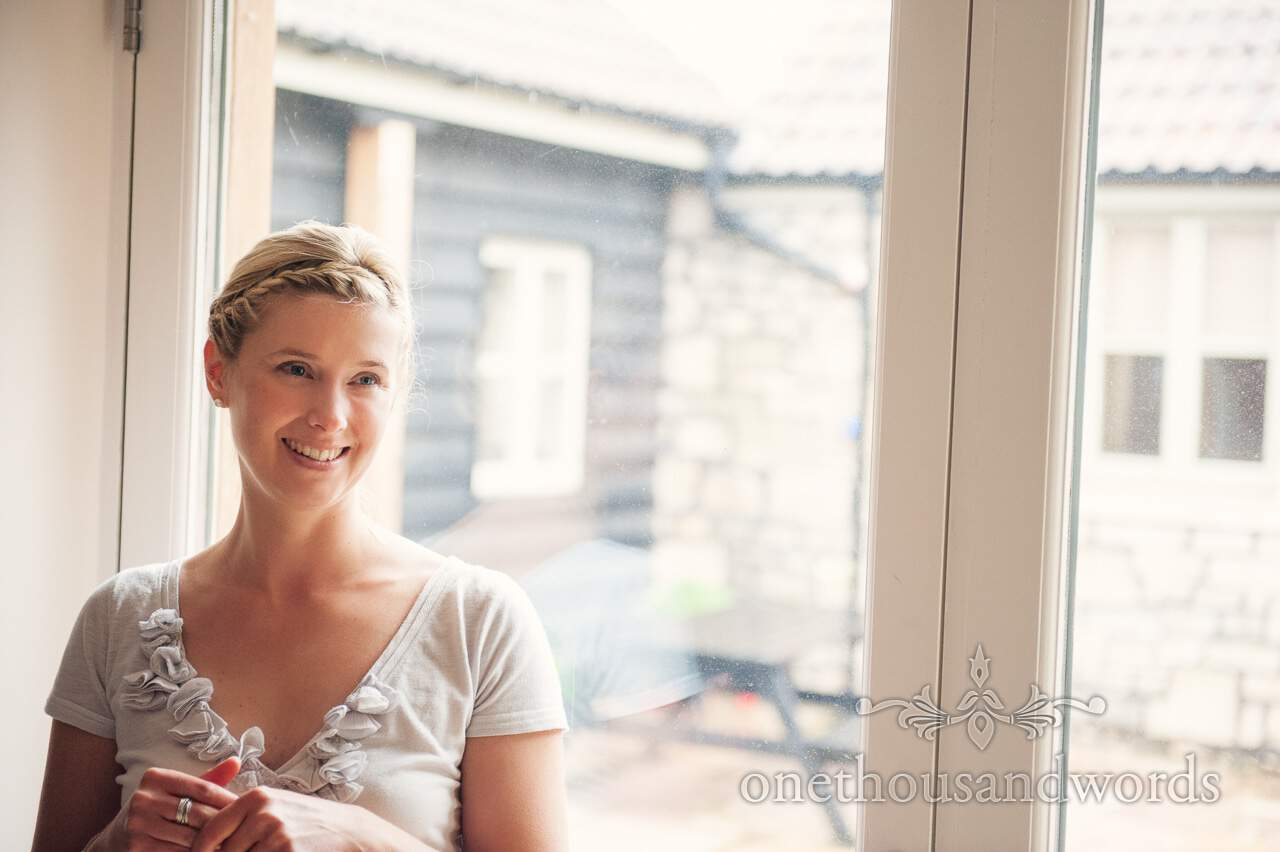 Bridesmaid portrait from wedding morning photographs