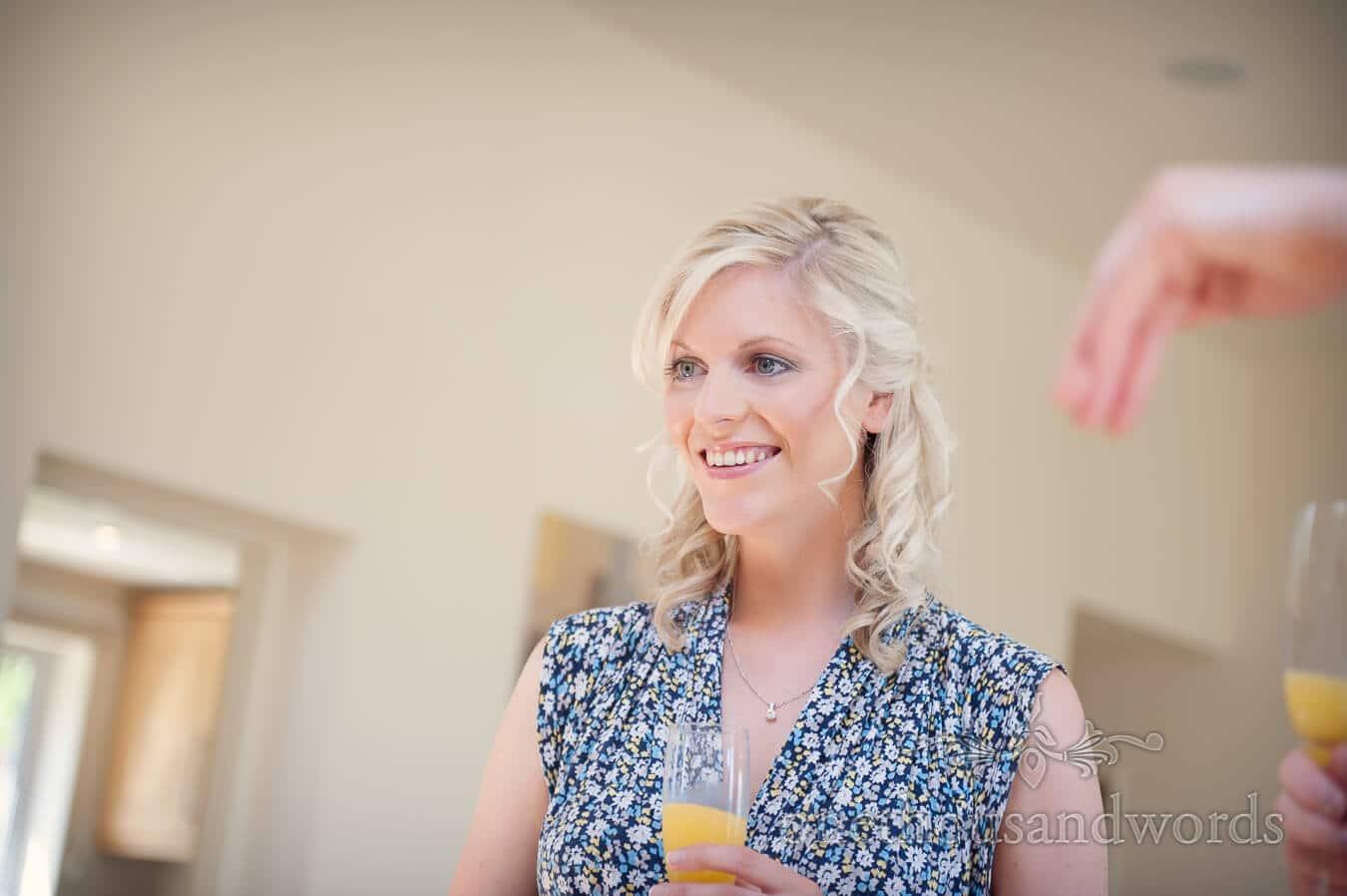 Bridesmaid portrait on morning of Durlston Castle Wedding Photography
