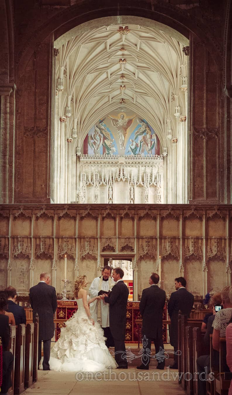 Christchurch Priory wedding venue in Dorset photography