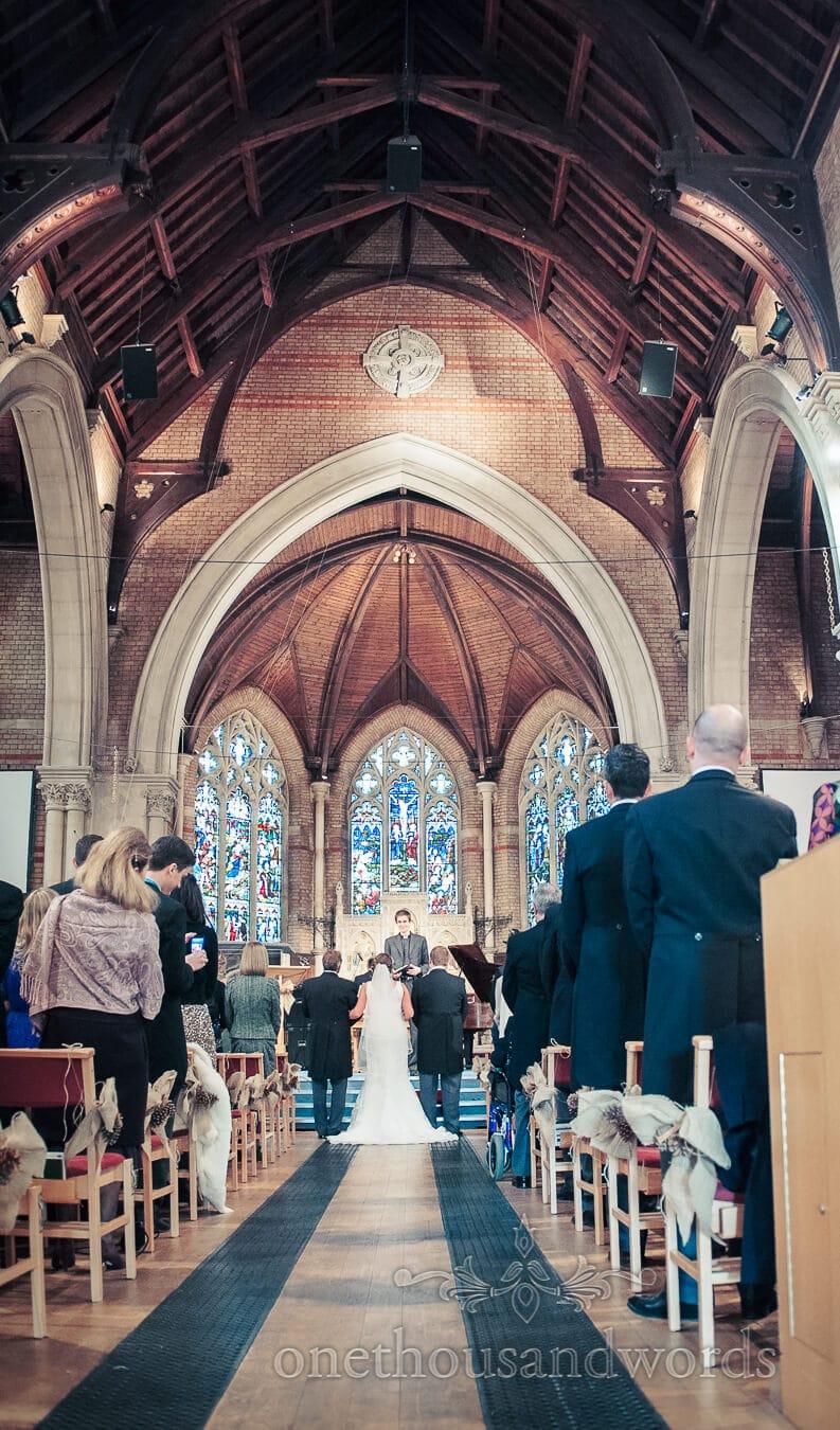 Church wedding ceremony in Richmond, London