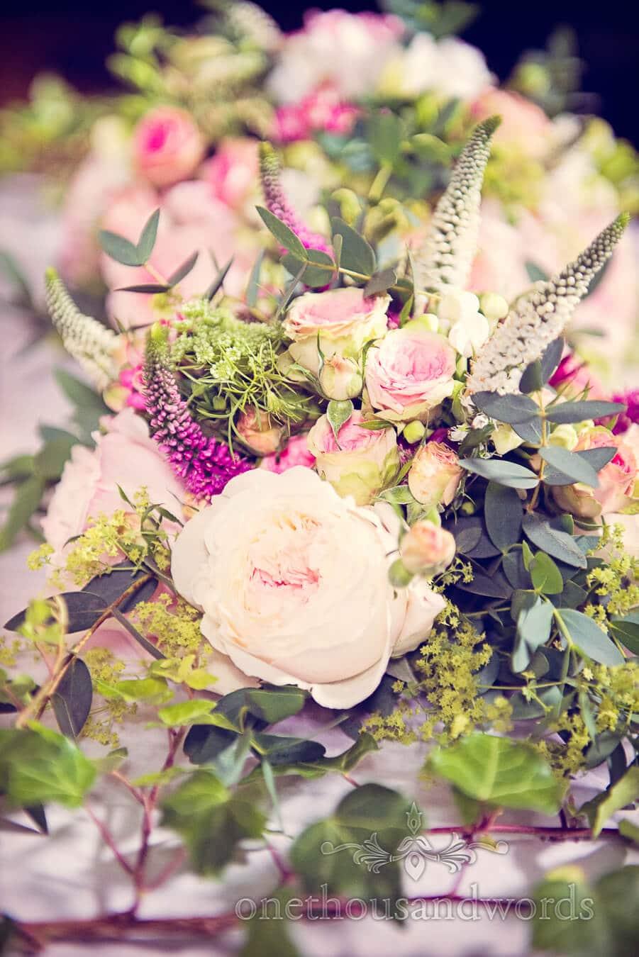 Countryside theme wedding flowers at Dorset Home Wedding