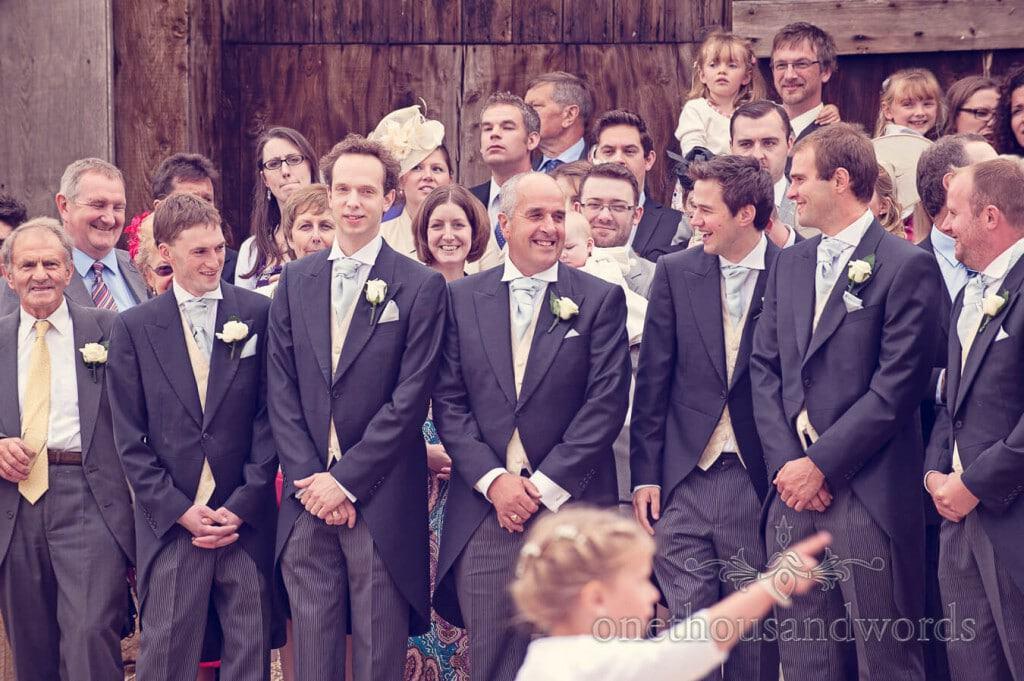 Wedding group photographs at Stockbridge Farm Barn wedding venue