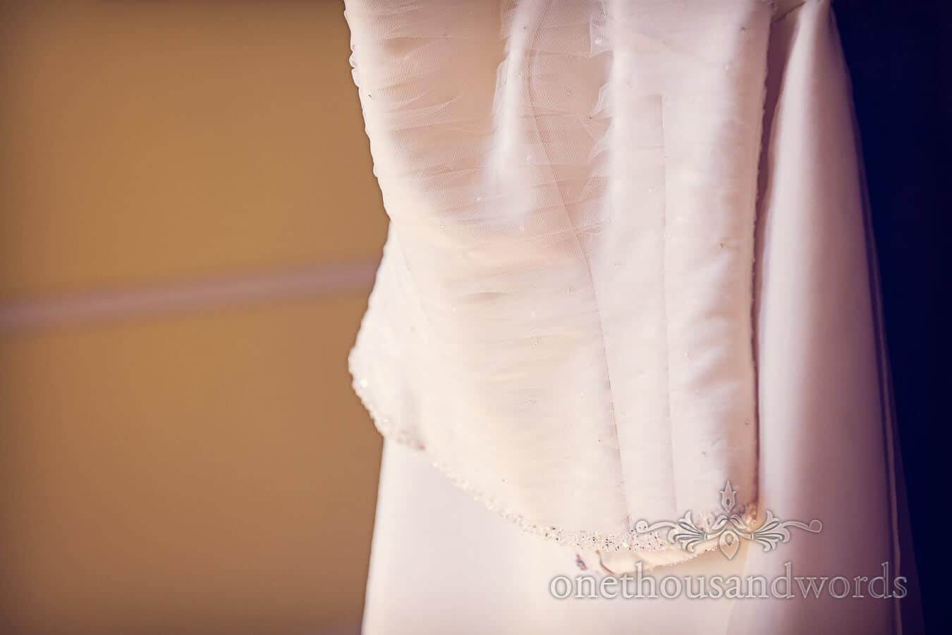 Countryside Wedding dress detail Photograph