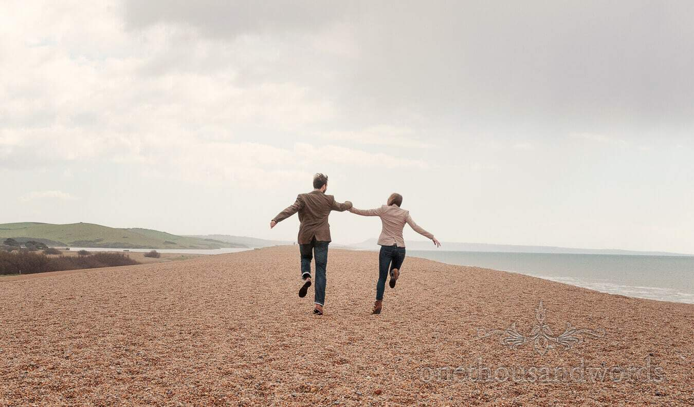 Chesil Beach Engagement Photographs With Craig And Nicky