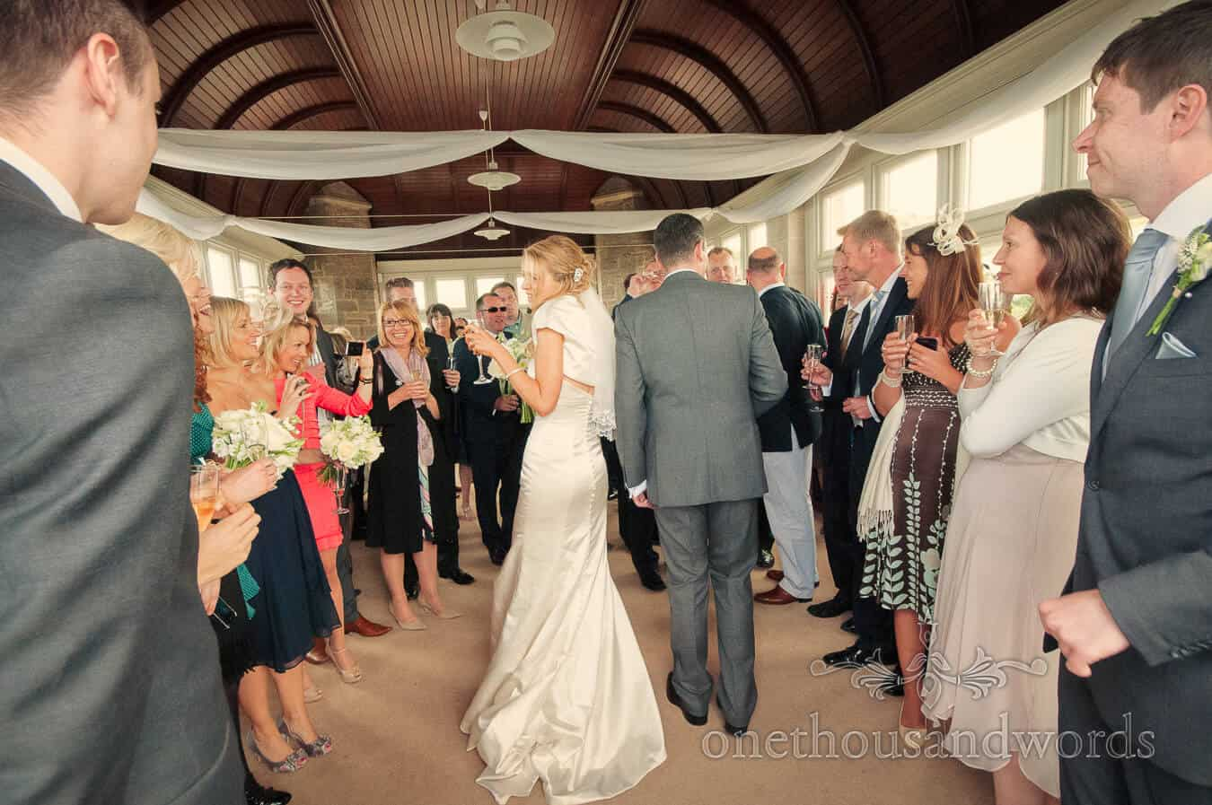 Drinks Reception at Durlston Castle Wedding Photography