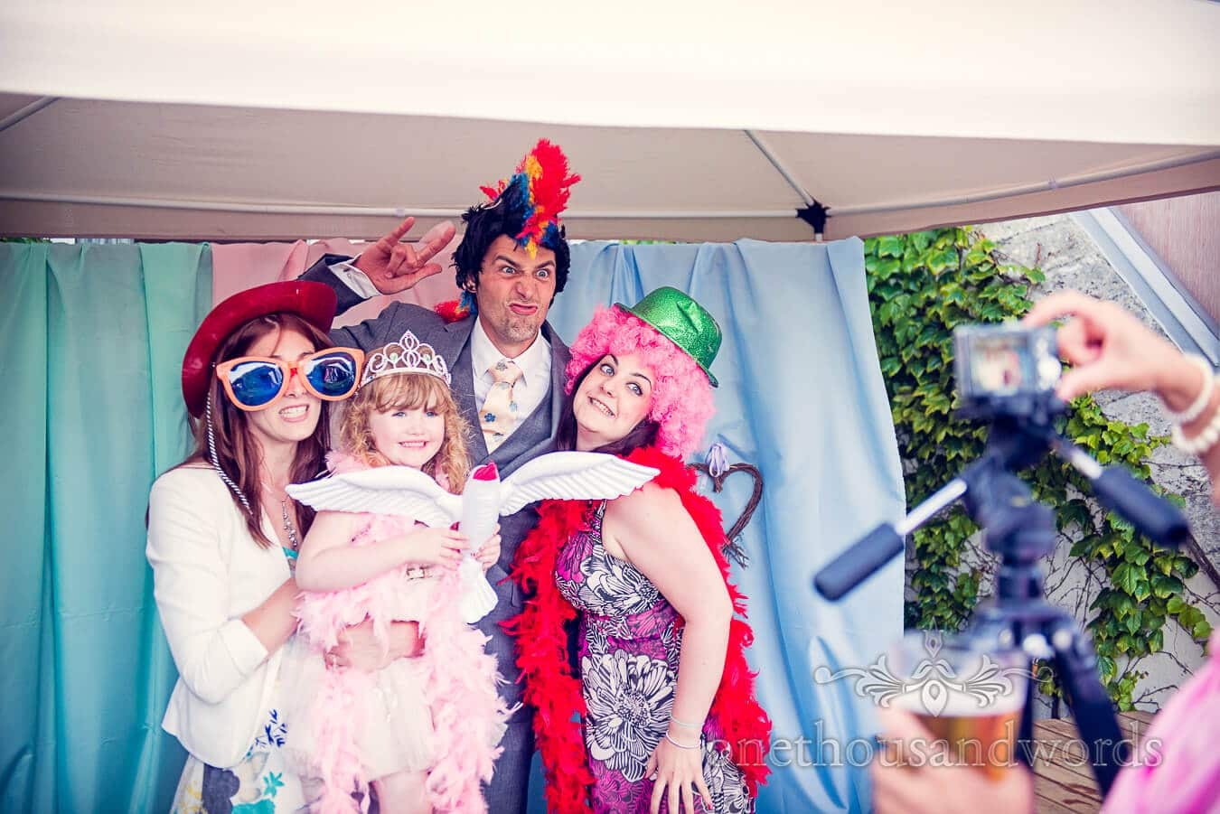 Fancy dress at Dorset Home Wedding Photo-booth