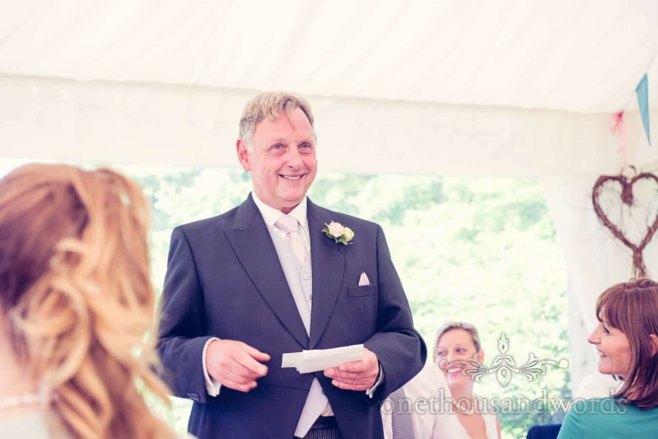 Father of the Bride Speech at Dorset Home Wedding