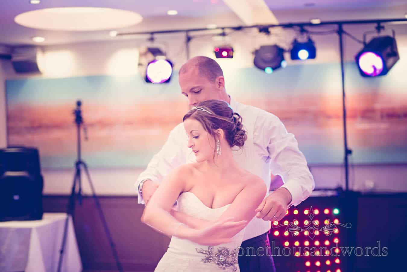 First dance at Harbour Heights Hotel, Poole wedding venue